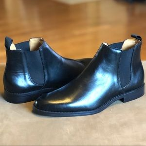 Harrison Myles Black Slip On Boots Men's Size 9.5